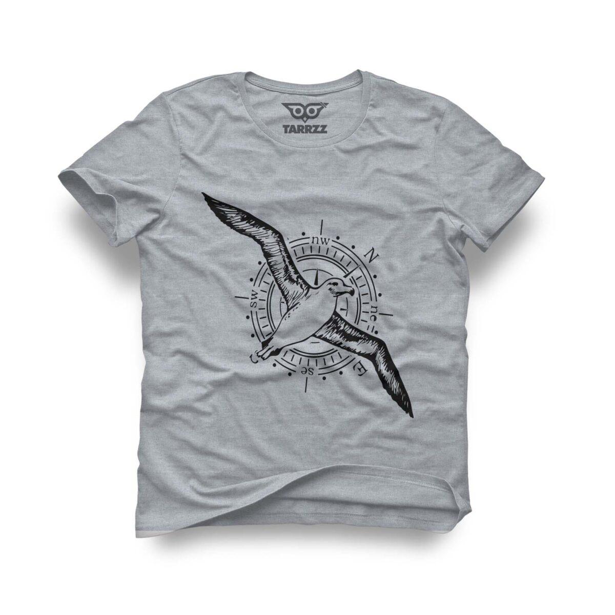Albatros-Tarrzz-Tasarim-Gri-Tisort-Erkek