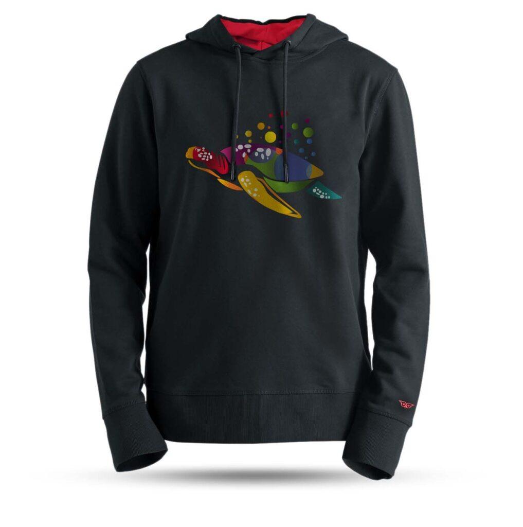 tarrzz-tasarim-kapsonlu-sweatshirt-renkli-kaplumbaga