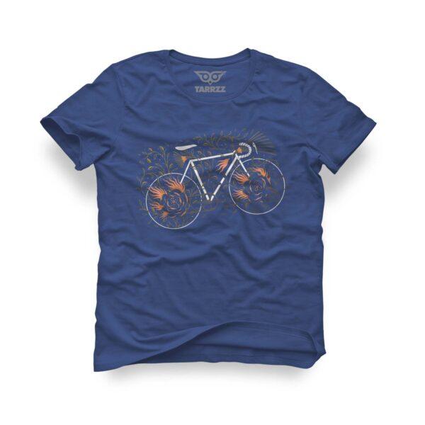 tarrzz-tasarim-marine-mavi-tisort-bisiklet-ve-yapraklar