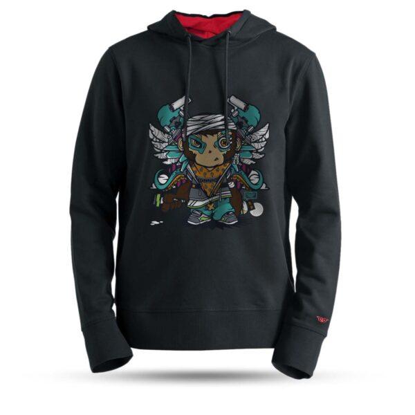 tarrzz-tasarim-kapsonlu-sweatshirt-grafiti-monkey