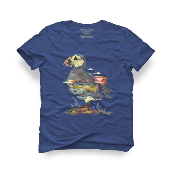 tarrzz-tasarim-marine-mavi-tisort-flamingo