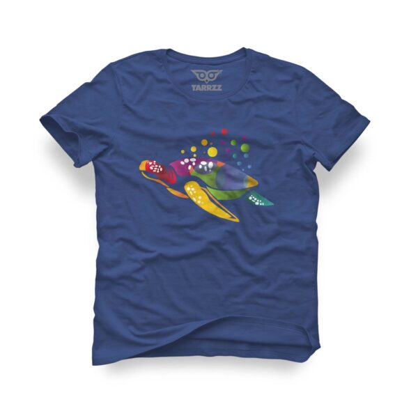 tarrzz-tasarim-marine-mavi-tisort-renkli-kaplumbaga
