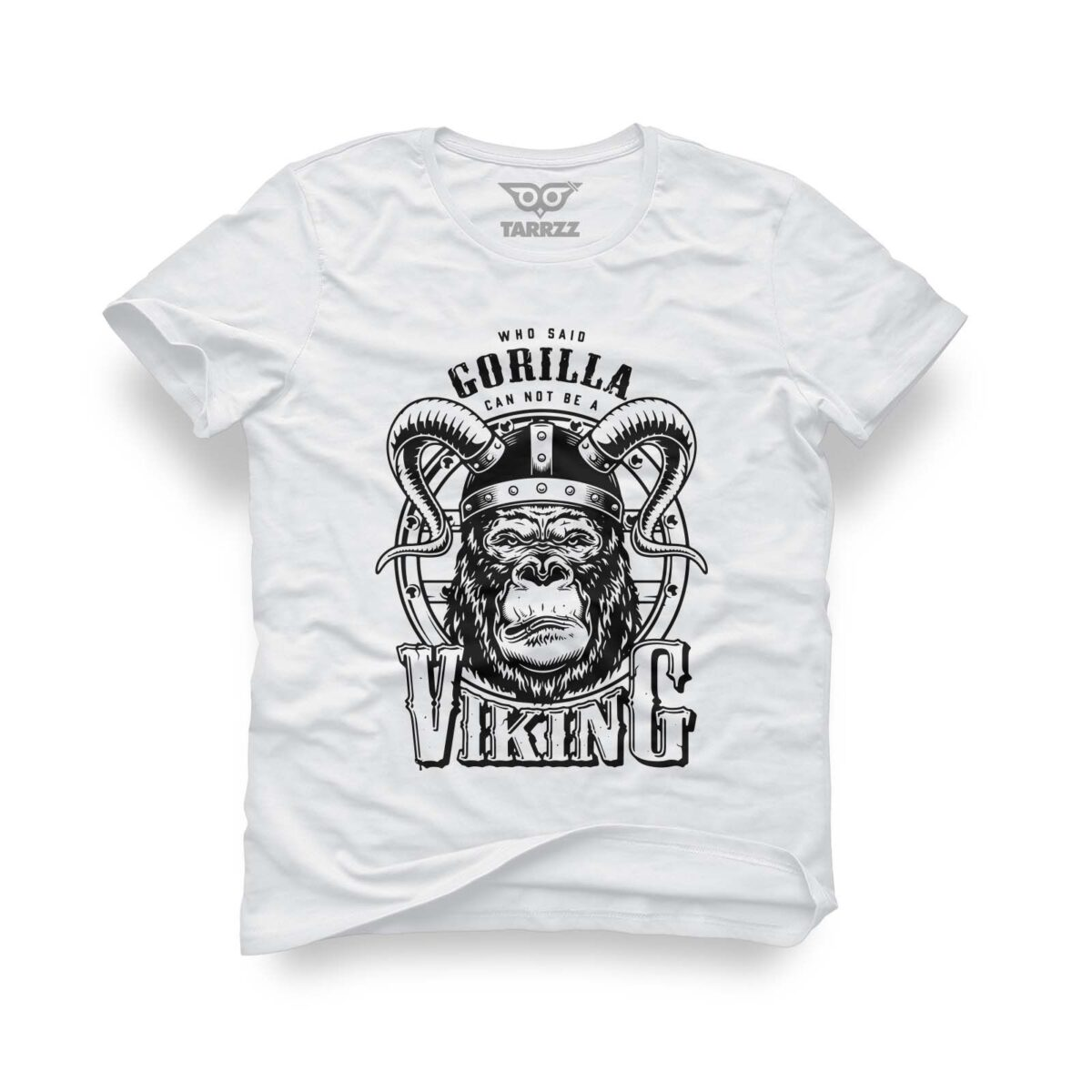 tarrzz-tasarim-beyaz-tisort-gorilla-viking