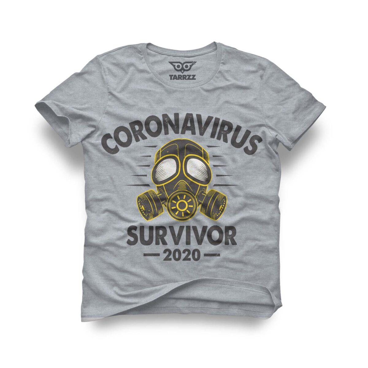 tarrzz-tasarim-gri-tisort-coronavirus-survivor-2020