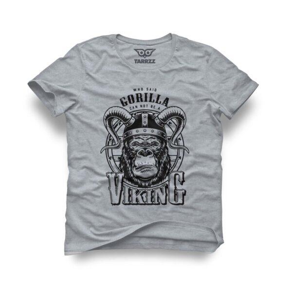 tarrzz-tasarim-gri-tisort-gorilla-viking