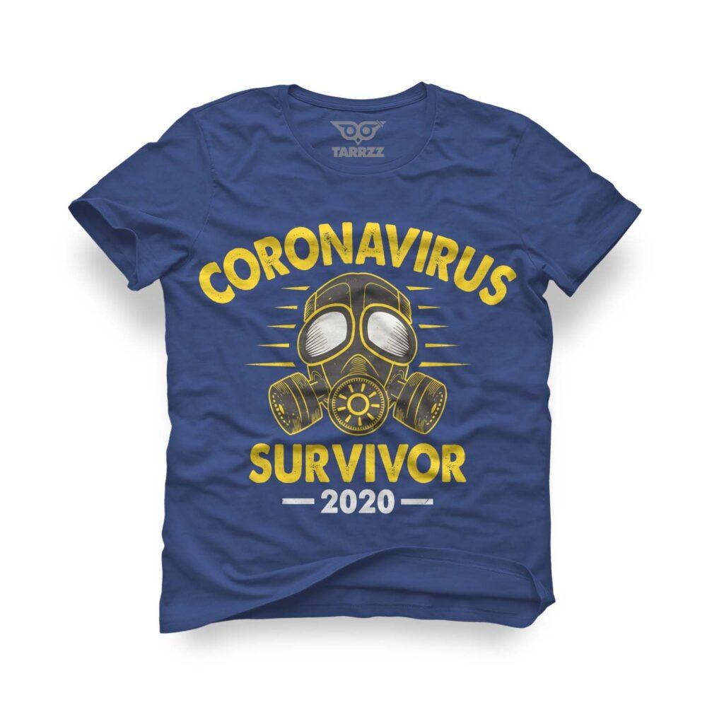 tarrzz-tasarim-marine-mavi-tisort-coronavirus-survivor-2020