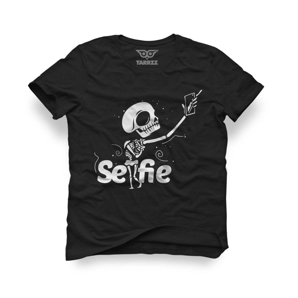 tarrzz-tasarim-siyah-tisort-selfie