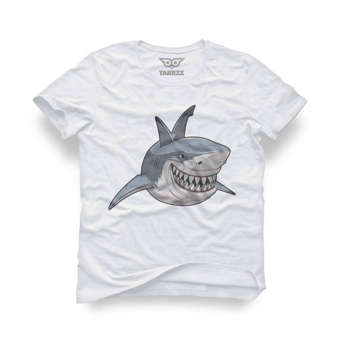 tarrzz-tasarim-beyaz-tisort-kopekbaligi-smile-like-a-shark