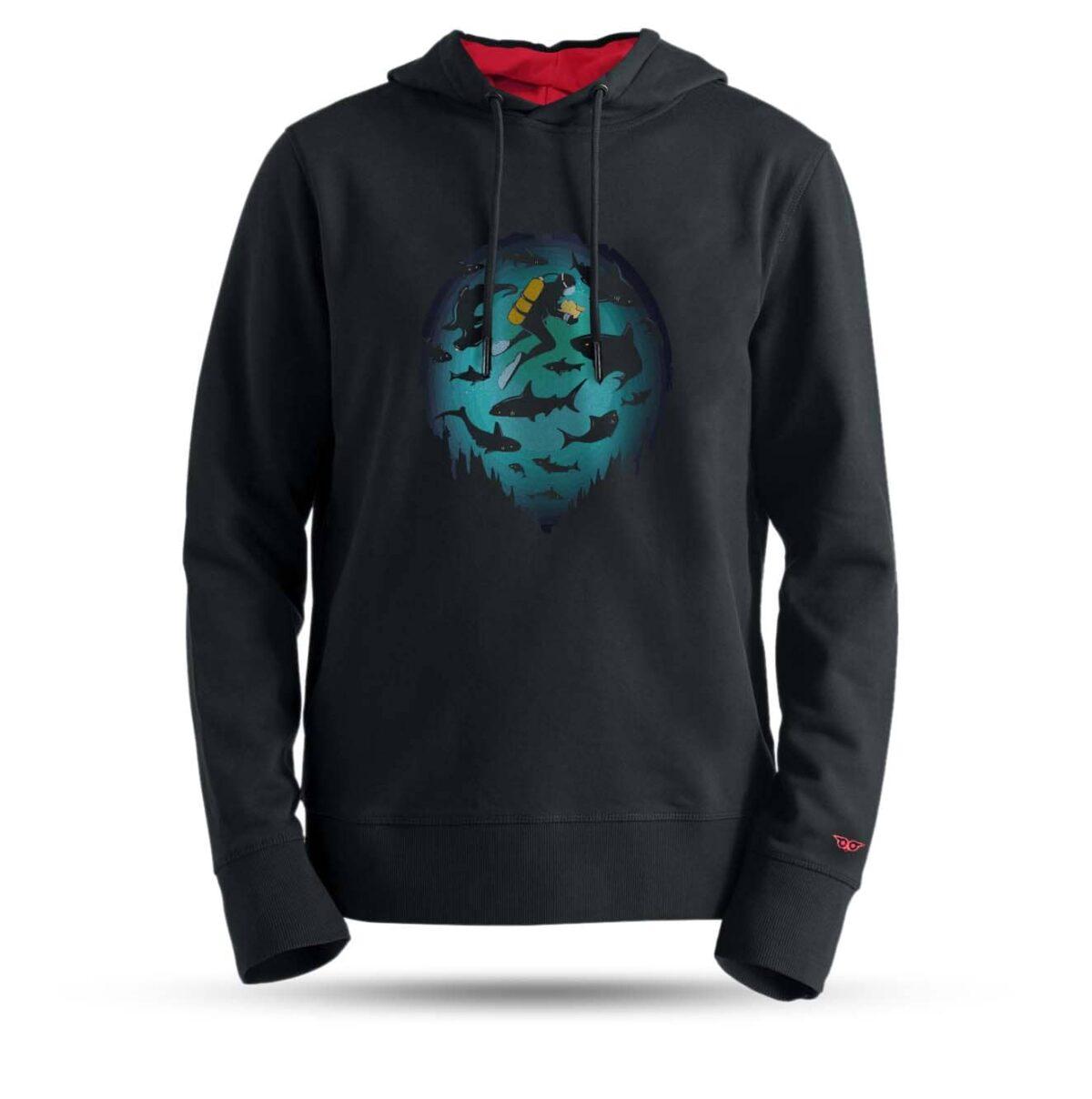 tarrzz-tasarim-kapsonlu-sweatshirt-dalgic-ve-kopekbalikli-deniz