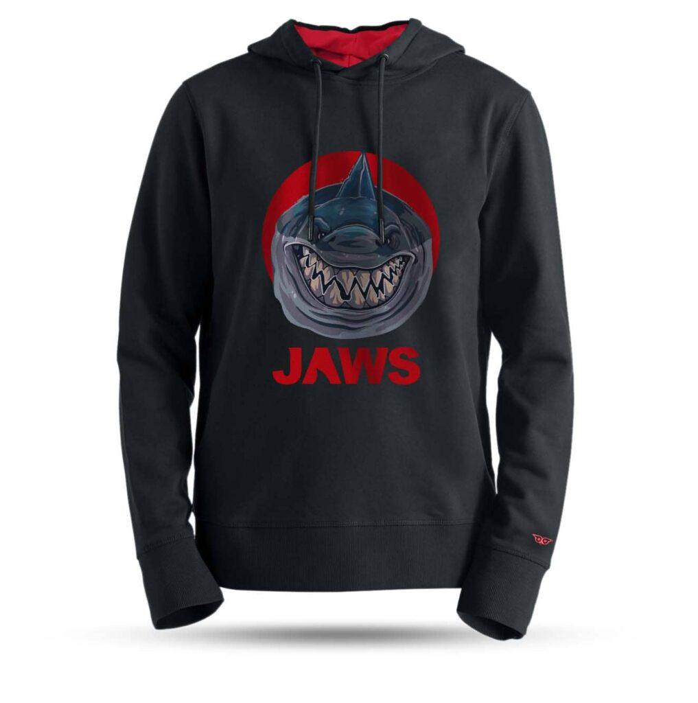 tarrzz-tasarim-kapsonlu-sweatshirt-kopekbalikli-jaws
