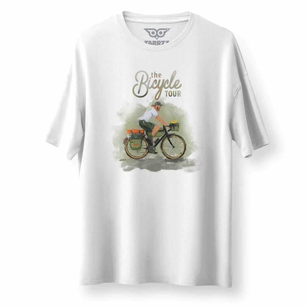 tarrzz-tasarim-beyaz-oversize-bol-kesim-tisort-bisiklet-turu-tshirt