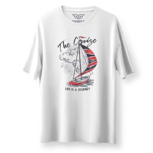 tarrzz-tasarim-beyaz-oversize-bol-kesim-tisort-kirmizi-yelkenli-