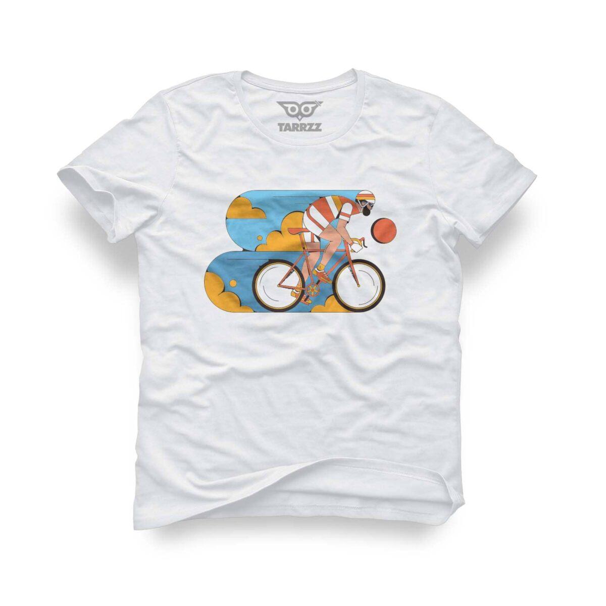 tarrzz-tasarim-beyaz-tisort-bisikletci