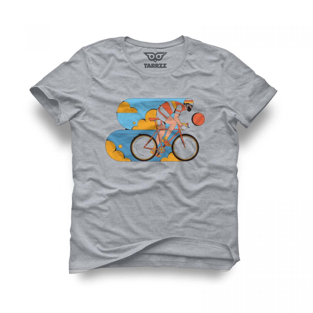 tarrzz-tasarim-gri-tisort-bisikletci