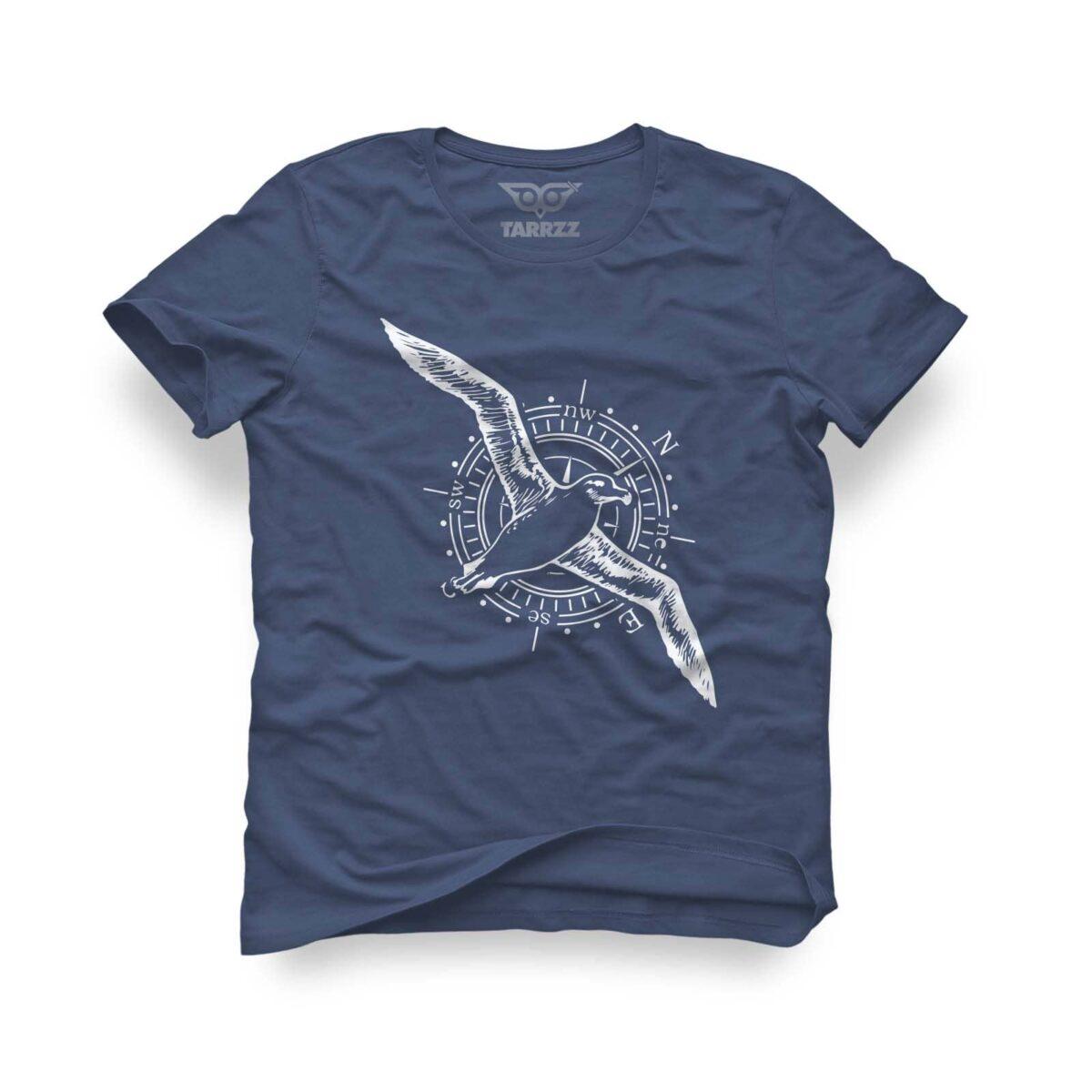 tarrzz-tasarim-indigo-mavi-tisort-albatros