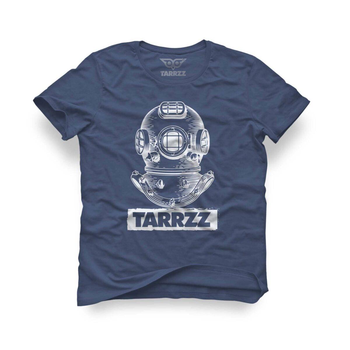 tarrzz-tasarim-indigo-mavi-tisort-antik-dalgıc