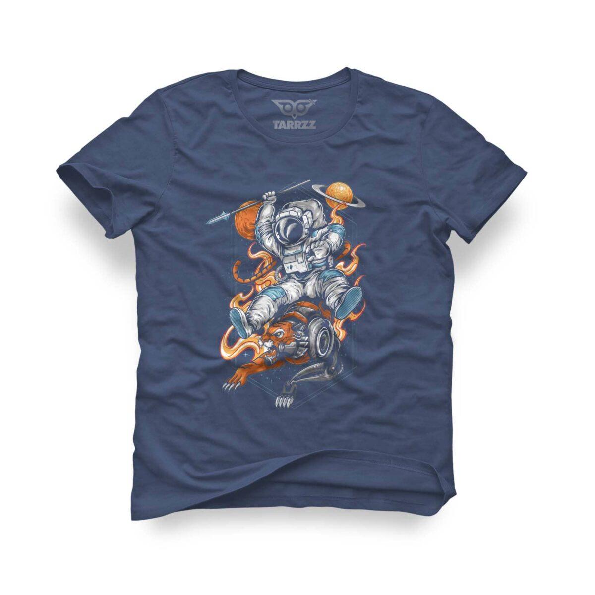 tarrzz-tasarim-indigo-mavi-tisort-aslanli-astronot