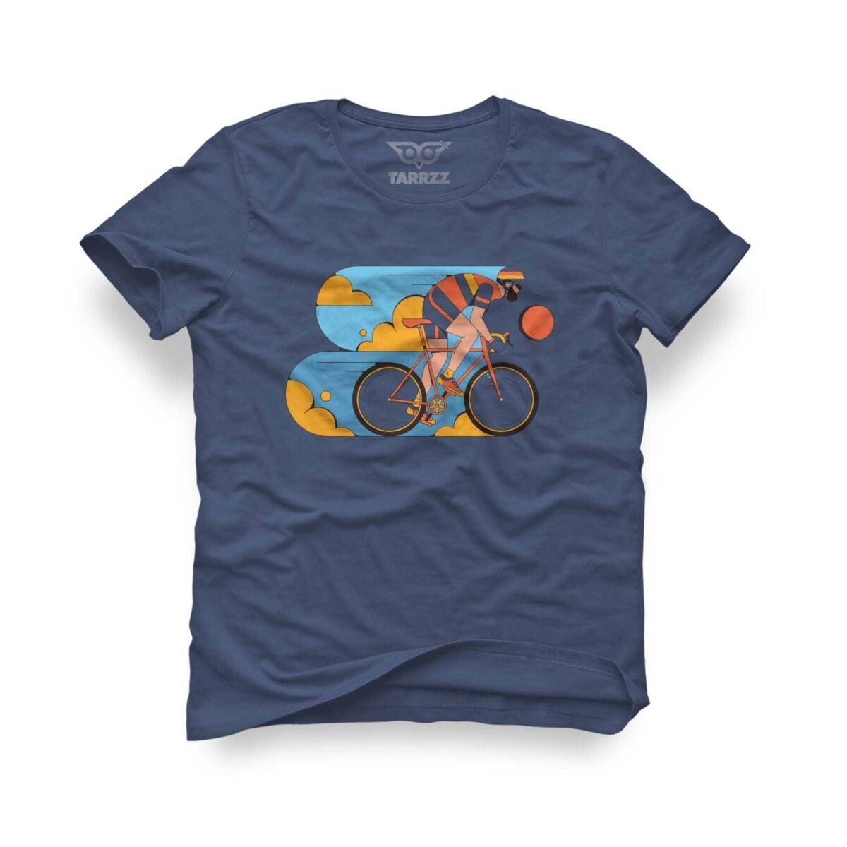 tarrzz-tasarim-indigo-mavi-tisort-bisikletci
