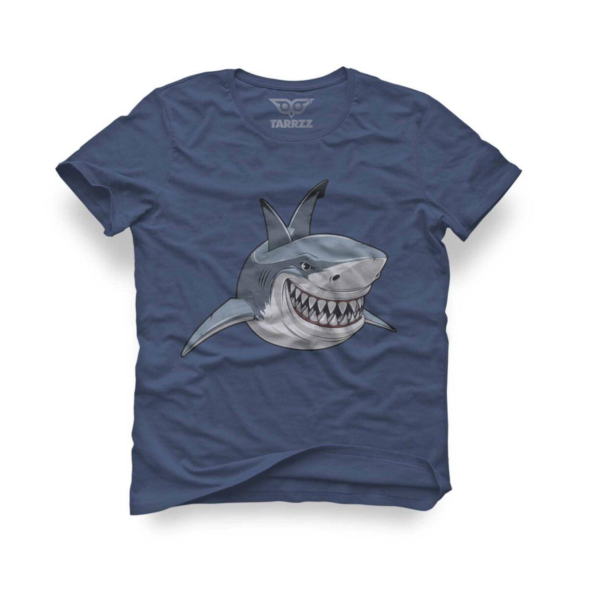tarrzz-tasarim-indigo-mavi-tisort-smile-like-a-shark