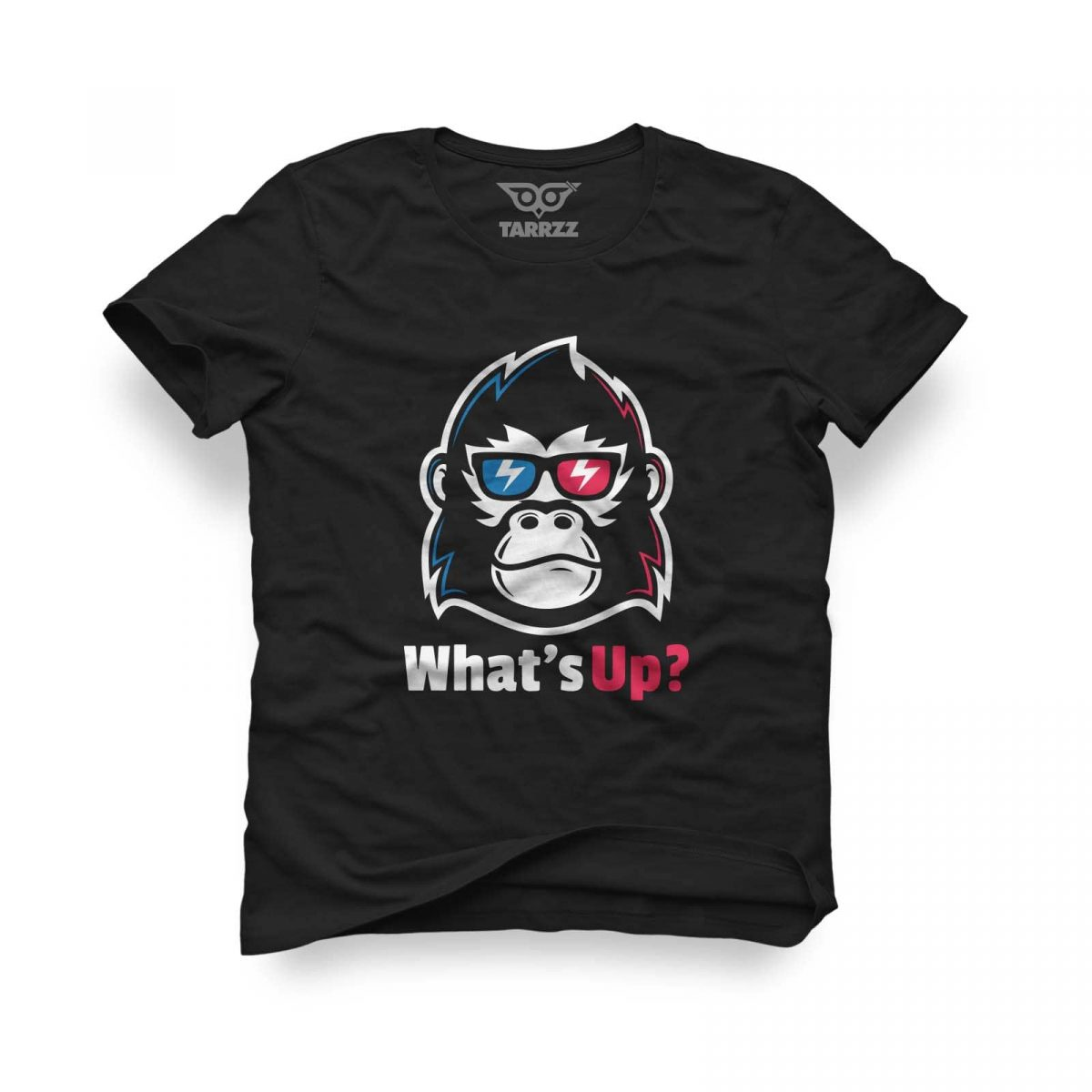 tarrzz-tasarim-siyah-tisort-whats-up-monkey